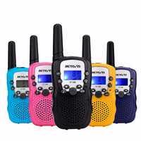 2pcs Retevis RT388 22 Channels GMRS 462-467MHz Mini Handheld Two Way Kids Radio Walkie Talkie
