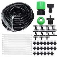 20m Garden Patio Water Mister Air Misting Cooling Micro Drip Irrigation System Sprinkler