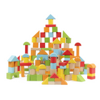 Acheter 100 Particles Wooden Children's Building Blocks Wood Assembly Baby Educational Indoor Toys