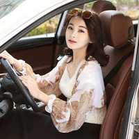 Women Chiffon Driving Sunscreen Long Arm Sleeves