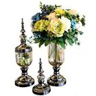 Bon prix European Glass Flower Vase Floral Holder Wedding Party Home Office Decorations