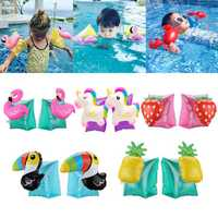 1 Pair Kids Summer Inflatable Safety Swimming Ring Arm Bands Cartoon Water Float