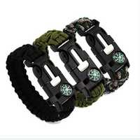 IPRee® 4 In 1 EDC Survival Bracelet Emergency Paracord Umbrella Rope Compass Kit