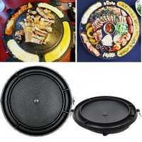 Picnic BBQ Aluminum Non-Stick Grill Pan Korean Barbecue Plate Stovetop