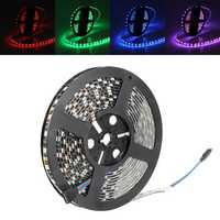 5M 72W Black PCB SMD 5050 Non-Waterproof RGB 300 LED Strip Light Lamp For Decor Lighting DC 12V