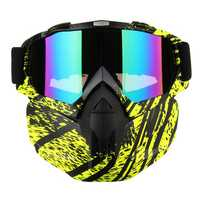 Detachable Full Face Mask Goggles Motorcycle Motocross Ski Riding Cycling Protector Outdoor