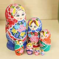 Matryoshka Set of 7 Nesting Dolls Madness Russian Wooden Dolls Toy