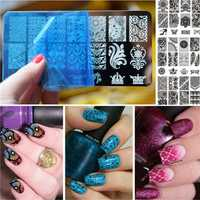 Nail Art Image Stamping Template Printing Plate Polish Gel DIY Tips Design Manicure