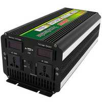 3000W 6000W Peak 12V/24V to 220V Power Inverter for Solar/Wind with LCD Display