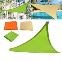 2x2x2m Triangle Sun Shade Sail Outdoor Garden Waterproof UV Tent Sunshade Canopy Awning Cover