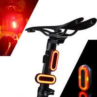 XANES STL03 100LM IPX8 Memory Mode Bicycle Taillight 6 Modes Warning LED USB Charging 360° Rotation Bike Light
