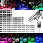 Les plus populaires MultiColor Glow Neon Wireless Remote Motorcycle 5050LED Flashing Light 12 Strips