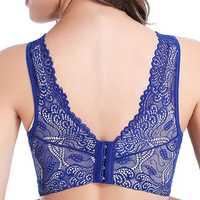 Wireless Lace Back Wide Shoulder Bras
