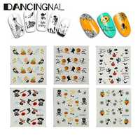 Halloween Nail Art Sticker Water Transfer Decal Manicure Tips Decoration