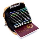 Meilleurs prix Genuine Leather RFID 24 Card Slot Large Capacity Card Holder Passport Case For Men Women