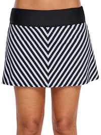 Striped Thin Trousers Skirt Swimming Trunks