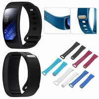 Ajustable Silicone Replacement Watch Strap Band for Samsung Gear Fit 2