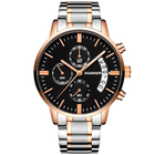 Meilleurs prix GUANQIN GS19053 Luxury Multi-function Men Quartz Watch Fashion Fine Steel Strap Wrist Watch