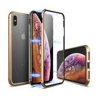 Luphie 360º Front Screen Protector & Back Glass Cover Metal Magnetic Adsorption Case For iPhone XR/XS/XS Max/X/7/7 Plus/8/8 Plus