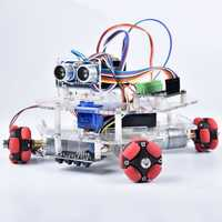 DIY Arduino STEAM Smart RC Robot Car Programmable Omni Wheels Educational Kit