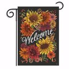 Good price 12.5'' x 18'' Sunflowers Garden Flag Flowers Welcome Friends Home Decor Banner Decorations