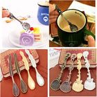 Meilleurs prix Vintage Palace Style Gold Silver Totem Sea Shells Aquatic Coffee Ice Cream Spoon