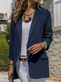 Women Autumn Office Fit Turn-Down Collar Blazers
