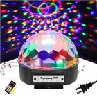 Meilleurs prix 9 Color LED Voice Control With Remote Control MP3 Crystal Ball Flashlightts Stage Sprinkle Lights