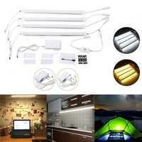 4PCS 30CM 30W SMD5630 Milky White Cover Double Row LED Rigid Strip Light Cabinet Lamp AC110-240V