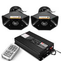 18 Siren Loud Warning Alarm Police Siren Horn Amplifier Car Speaker System 400W