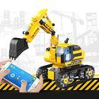 Promotion 580pcs DIY Technic RC Excavator 2.4GHz Remote Control Tracked Program Engineer Car Blocks Building Model Toys