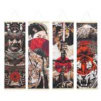 Ukiyoe Canvas Paintings Wall Hanging Art Poster Home Decor Pictures 40x128CM