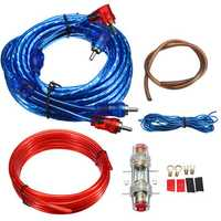 1500w Car Amplifier Wiring Kit Audio Subwoofer AMP RCA Power Cable AGU Fuse Set