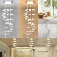3W LED Crystal Concealed Ceiling Light Small Chandelier Lamp Pendant Hallway