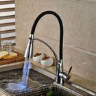 Acheter au meilleur prix LED Kitchen Sink Faucet Black Chrome Plated Cold Hot Pull Out Spray Faucet Mixer Taps