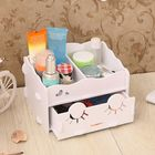 Acheter au meilleur prix Smiling Face Cute Wooden White Makeup Organizer Neat Table Collecting Case Cosmetics Tools