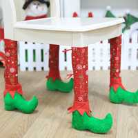 New Christmas Decorations Home Restaurant Chair Foot Cover Socks Set Table Foot Caps Decoration