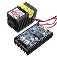 LA03-3500 450nm 3.5W Blue Laser Module TTL Modulation Fan Heat Sink for EleksMaker DIY Engraver