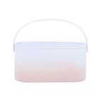 Meilleurs prix MUID Cosmetic Bag Dressing Case Portable Travel Dresser Cosmetic Mirror Lamp Fixing Makeup Lipstick Skin Care Product Storage Box Basket