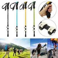 Adjustable 3-Section Hiking Walking Stick Trekking Pole Aluminum Alloy Alpenstock