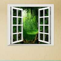 Deep Forest PAG 3D Artificial Window View 3D Wall Decals Room Stickers Home Wall Decor Gift