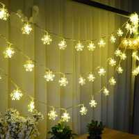 Christmas Snowflake LED Flashlight String Festival Wedding Decoration Waterproof Battery Powered