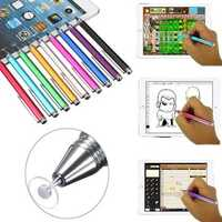 Fine Point Round Thin Tip Capacitive Stylus Pen for Tablet Cell Phone