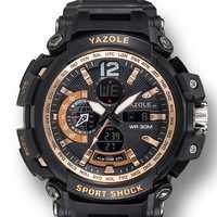 YAZOLE 481 482 Stopwatch Calendar Dual Display Digital Watch