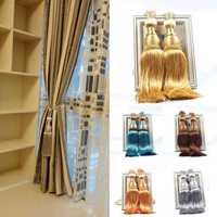 2Pcs Tassel Rope Window Curtain Tie Backs Buckles Tie Backs Holdbacks Pendant Window Decor