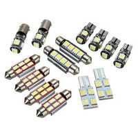 14Pcs T5 Car LED Interior Reading Lights Festoon Dome Bulb Kit White Replacement for VW
