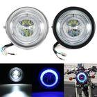 Meilleurs prix Universal Motorcycle Angel Eye LED Headlight Running Light Hi / Lo Beam