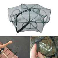 ZANLURE 58*22CM Nylon Green Foldable Fishing Bait Net Crab Fish Minnow Crawfish Shrimp Net
