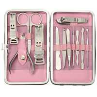 12pcs Stainless Steel Manicure Tools Set Travel Nail Nipper File Clipper Tweezers Eyebrow Scissors