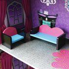 Meilleurs prix Purple Villa DIY Wood Big Doll House Dream Light Miniature Furniture Kits Big Kid Gift